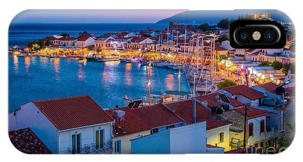 Greece iPhone X Case - Pythagoreio Evening by Inge Johnsson