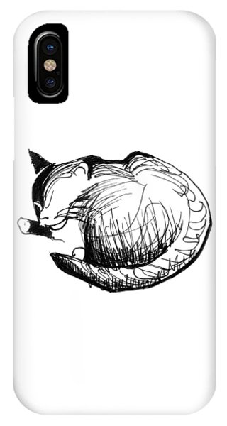 IPhone Case featuring the drawing Pywackit by Keith A Link