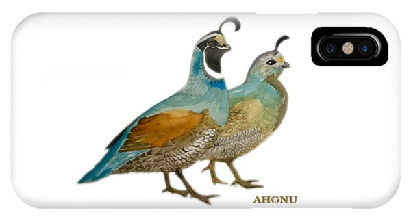 Quail Pair IPhone Case