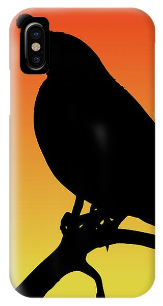 Quail Silhouette At Sunset IPhone Case