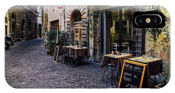 Quaint Cobblestones Streets In Rome, Italy IPhone Case