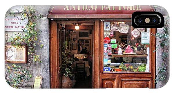 Quaint Restaurant In Florence IPhone Case