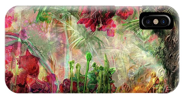 IPhone Case featuring the digital art Qualia's Jungle by Russell Kightley