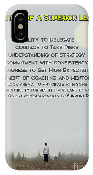 Achievement iPhone Case - Qualities Of Superior Leaders by Celestial Images