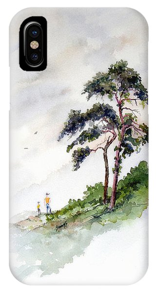 IPhone Case featuring the painting Quality Time by Sam Sidders