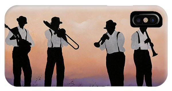 Jazz iPhone Case - Quattro by Guido Borelli