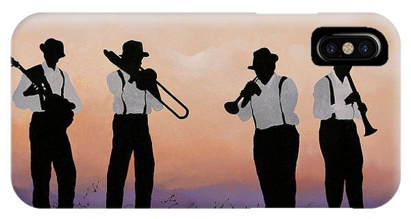 Jazz iPhone Case - Quattro by Guido Borelli