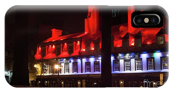 Quebec City iPhone Case - Quebec City At Night Bistro 1640 by Edward Fielding