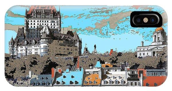 Quebec City Canada Poster IPhone Case