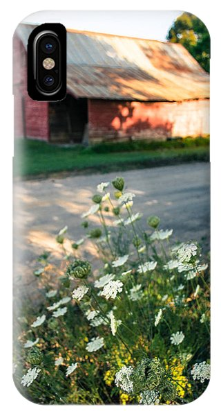 Queen Anne's Lace By The Barn IPhone Case