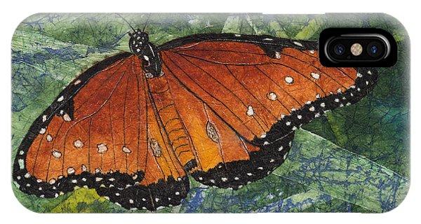 Queen Butterfly Watercolor Batik IPhone Case