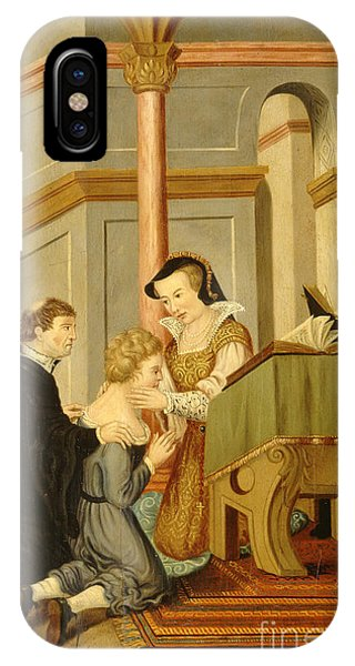 Bloody Mary iPhone Case - Queen Mary I Curing Subject With Royal by Wellcome Images
