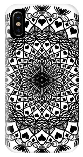 Queen Of Hearts King Of Diamonds Mandala IPhone Case