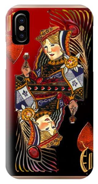 Queen Of Hearts IPhone Case