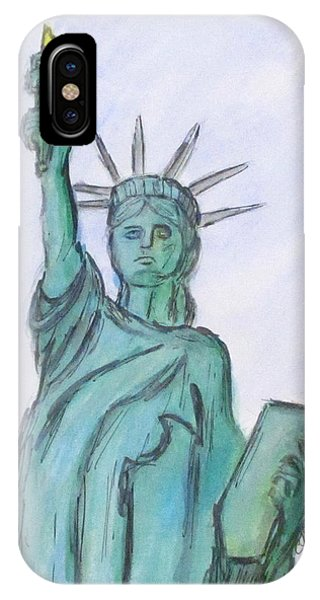 IPhone Case featuring the painting Queen Of Liberty by Clyde J Kell