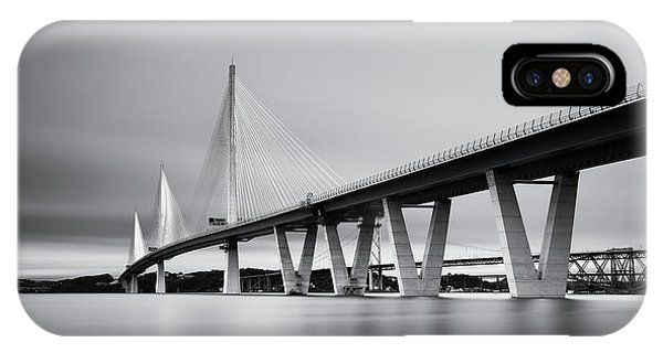 Queensferry Crossing Bridge Mono IPhone Case