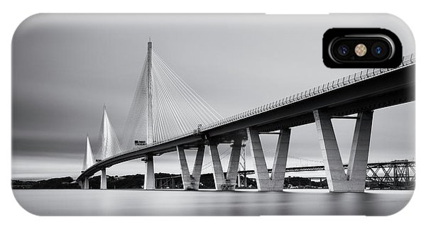 Queensferry Crossing Bridge Mono IPhone Case