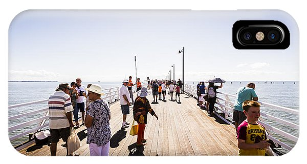 Qld iPhone Case - Queenslanders Walking On The New Shorncliffe Pier by Jorgo Photography - Wall Art Gallery