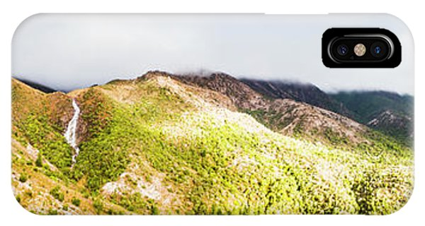 Nature Scene iPhone Case - Queenstown Tasmania Wide Mountain Landscape by Jorgo Photography - Wall Art Gallery