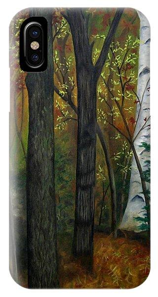 Quiet Autumn Woods IPhone Case