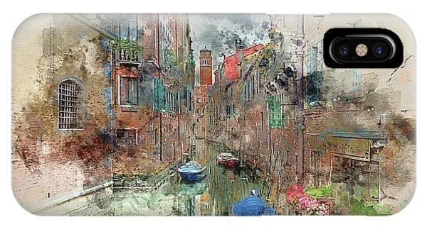 Quiet Morning In Venice IPhone Case
