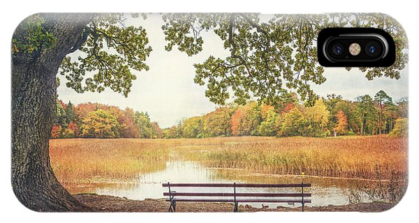 Park Bench iPhone Case - Quiet Time by Evelina Kremsdorf