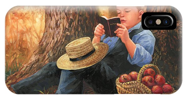 Amish iPhone Case - Quiet Time by Laurie Snow Hein