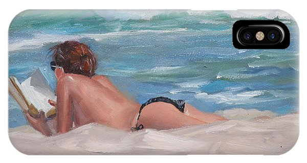 Sunbather iPhone Case - Quiet Time Two by Laura Lee Zanghetti