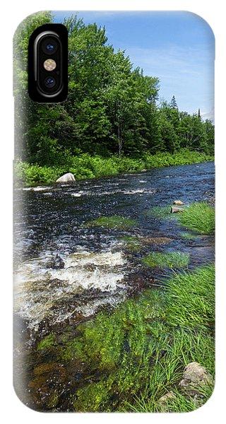 Quill Pond Brook Near Rangeley Maine  -70748 IPhone Case