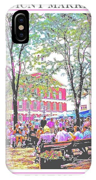 Quincy Market, Boston Massachusetts, Poster Image IPhone Case
