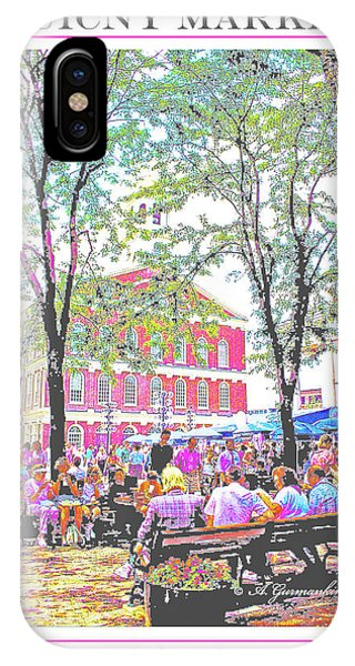Quincy Market, Boston Massachusetts, Poster Image IPhone Case
