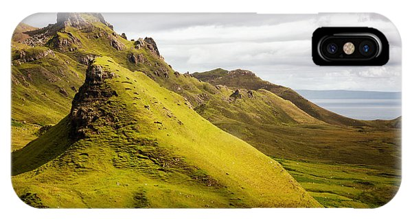 Northern Scotland iPhone Case - Quiraing Mountains by Jane Rix