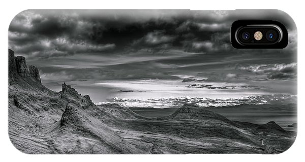 Quiraing On Isle Of Skye Scotland IPhone Case