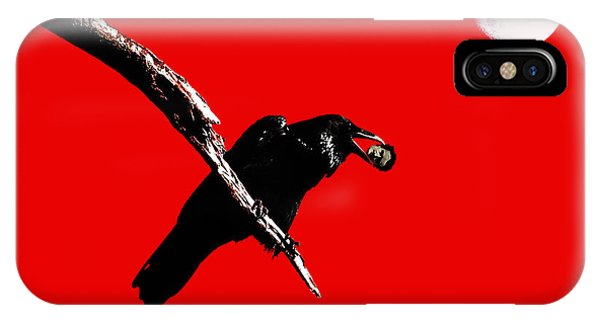 Quoth The Raven Nevermore . Red IPhone Case