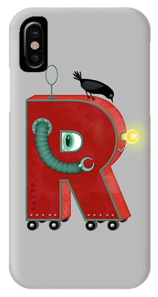 R Is For Robot IPhone Case