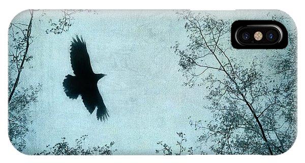Blackbird iPhone Case - Spread Your Wings by Priska Wettstein