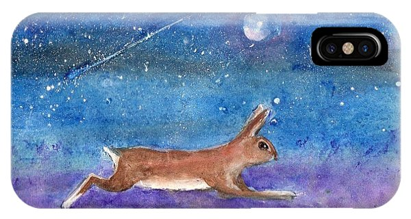 Rabbit Crossing The Galaxy IPhone Case
