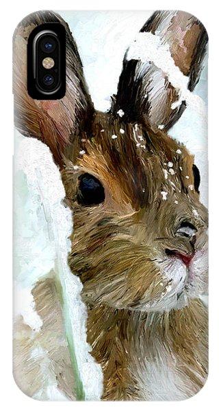 Rabbit In Snow IPhone Case
