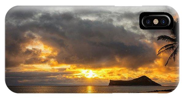 Rabbit Island Sunrise - Oahu Hawaii IPhone Case