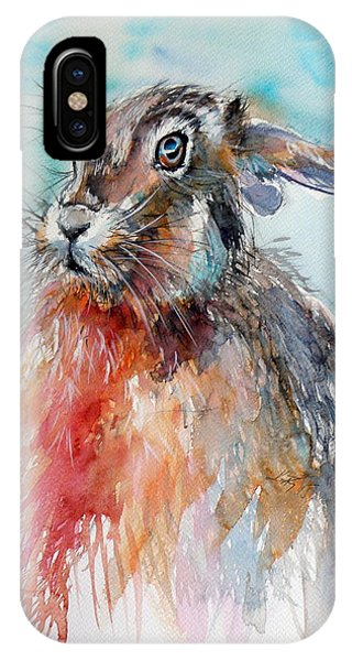Wild Life iPhone Case - Rabbit by Kovacs Anna Brigitta