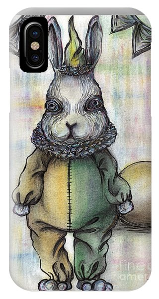 Rabbit Pierrot IPhone Case