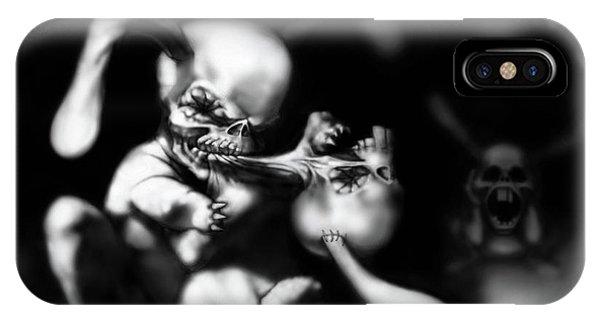 Dark Humor iPhone Case - Rabbits by Gediminas Zdanavicius