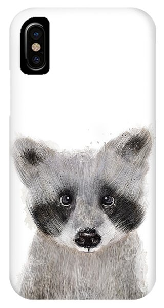 Wild Life iPhone Case - Raccoon by Bri Buckley