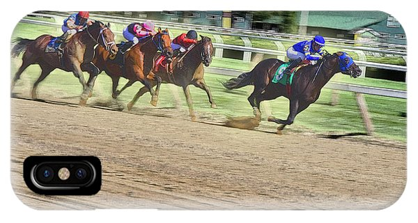 Race Horses In Motion IPhone Case