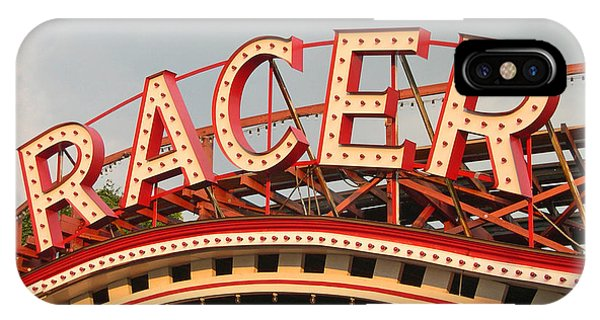 Neon iPhone Case - Racer Coaster Kennywood Park by Jim Zahniser