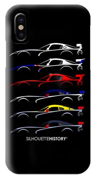 Viper iPhone Case - Racing Snake Silhouettehistory by Gabor Vida