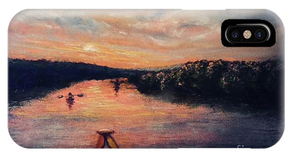 Racing The Sunset IPhone Case