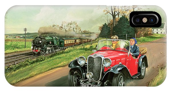Transportation iPhone Case - Racing The Train by Richard Wheatland