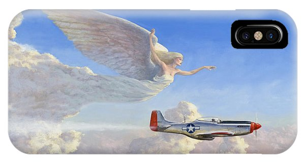 Angels iPhone Case - Racing The Wind by Richard Hescox