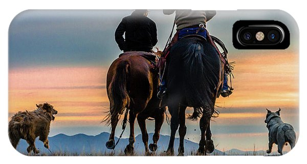 Racing To The Sun Wild West Photography Art By Kaylyn Franks IPhone Case